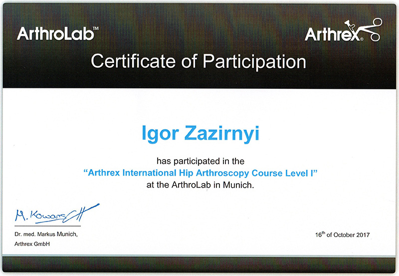 Arthrex Hip arthroscopy course 2017