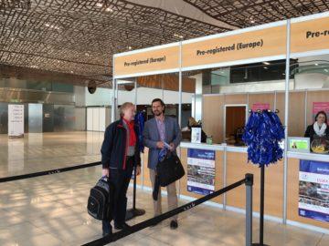 На регистрации конгресса в Барселоне с Президентом Европейской ассоциации хирургии плеча Романом Бржоска (Польша)