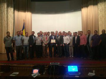 Вручение диплома почетного члена украинского общества профессору Ван Дайку (Голландия)