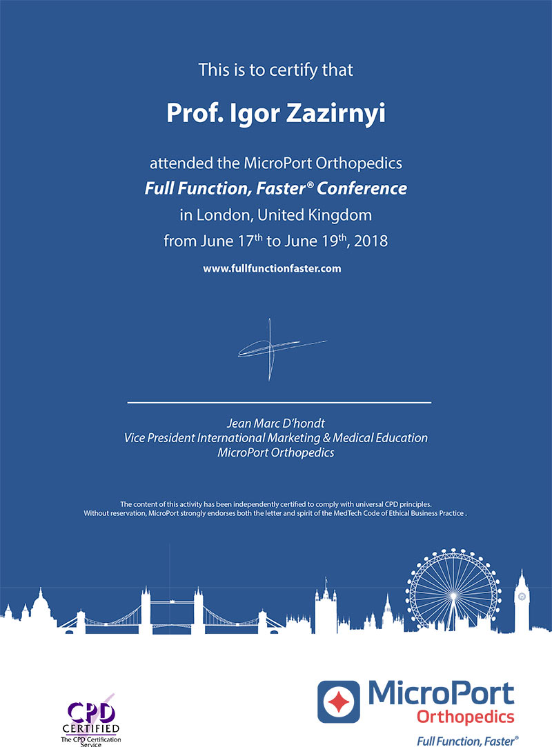 Certificate - Full Function, Faster Conference in UK